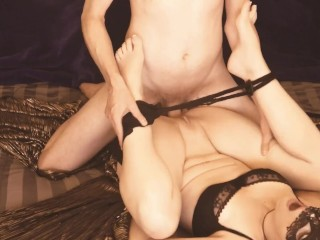 MASQUERADE MODEL HAS WILD ORGASMS: Rough Sex with a Hot and Athletic Male