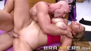 BRAZZERS - Busty blonde Athena Pleasures loves yoga and big dicks