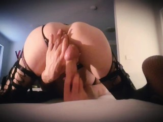 Hung TS Ass Play from behind