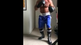 working the heavy bag in slow motion
