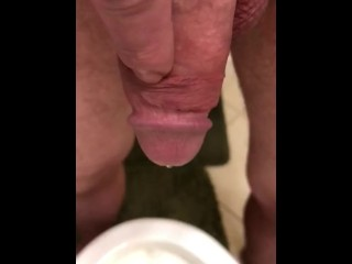 Morning piss in slow motion 4K