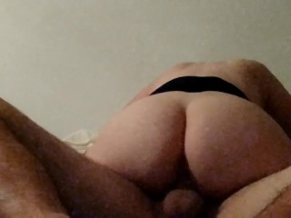 Chubby milf rides and gets pounded