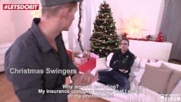 Christmas Czech swingers seduce and fuck the photographer