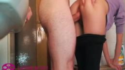Cute Girlfriend Fucked Hard in the Bathroom - Amateur Couple Lollolara91