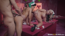 Brazzers - Santas sexy little helpers Alena & Amethyst in a hot threesome