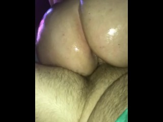 Sexy blonde milf riding my cock with oil - Marlaandtyler