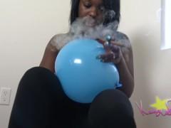 Kassey Starr Somking Balloon Pop