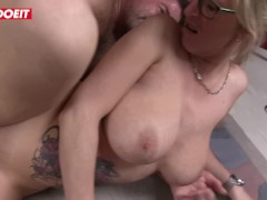 German Mature MILFs Abuse Young Stud - LETSDOEIT