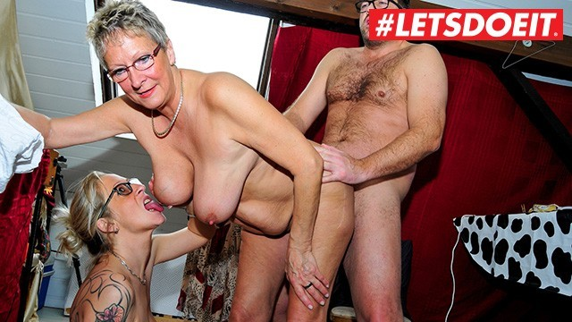 Hard tube xxx - German mature milfs abuse young stud - letsdoeit