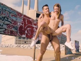 Hardcore Fuck for a Russian Babe on a Public Beach - #LETSDOEIT