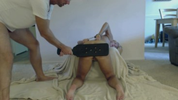 Cuffed, Spanked, Face Fucked, Pounded Doggy & Cummed On