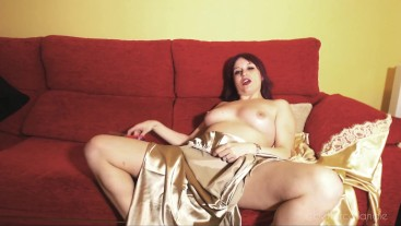I destroy my satin camel nightgown and dressing gown: I rip them hard