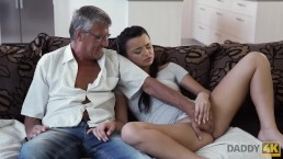 DADDY4K. Dad takes part in spontaneous sex with beauty Erica Black
