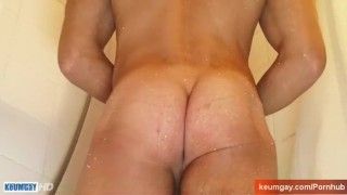 shower cock the huge in a cumshot huge with greg neighbour for my wanked jerking