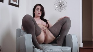 curvy girlfriend strips and squirts while youre at work