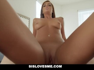 SisLovesMe – Scarlett Mae Plays House And Bones Her Stepbro