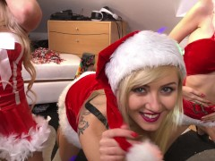 UPSKIRTS BEND OVER PUSSIES AND PANTIES, SANTA XMAS SPECIAL LEONS 4 GIRLS