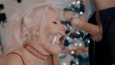 Extreme Hardcore sloppy gag Facefuck with slutty blond girl in ...