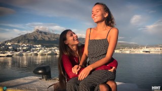 Screen Capture of Video Titled: This autumn I visited my friend Talia Mint. We had an amazng time together
