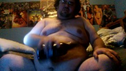 Chugging beer on a full belly