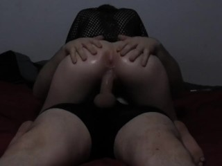 Diamond rides masters cock for a nice creampie...