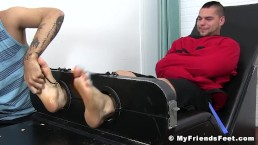 Straitjacket jock Aspen tickled relentlessly in bondage