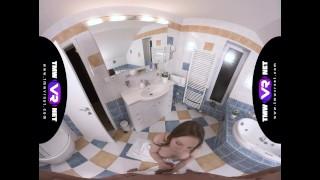 TmwVRnet.com - Linda Weasley - Brushing teeth with sperm Oral pov