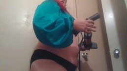 Huge Belly Inflation w/ Bike Pump and Chugging Part One