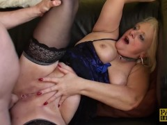 PASCALSSUBSLUTS - Choked granny Carol gets rough anal sex