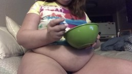 Fat Piggy Stuffing & Belly Play