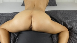 Pillow Humping Orgasm with loud load moaning
