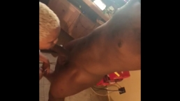 DADDY BLOWING THIS PUSSY OUT WITH HIS CHOCOLATE DICK