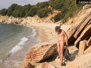 Beach naked hiking solo male masturbation lapjaz ecosexual...