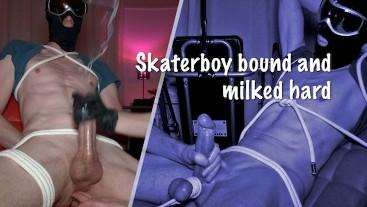 Skaterboy bound and milked hard
