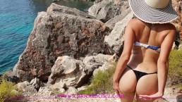 Chloé Sanchez Amateur EXHIB baise HARD cumface devant inconnu at beach