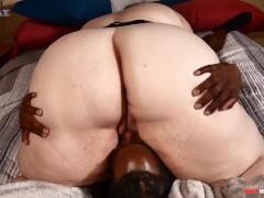 Huge booty Milf taking big cock from her black neighbor