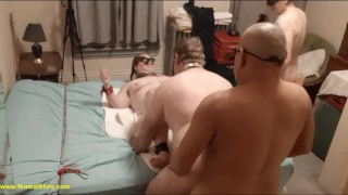 2018-12-21 S1C1 Master, manslut & David in bi BDSM 4sum with BBW fuckmeat
