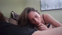 Amateur wife gives blowjob