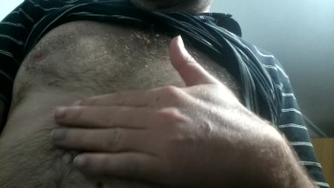sexy hairy man nipple