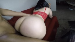 Teen gets super horny & fucked on the couch!