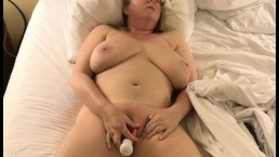 Horny MILF With Big Tits Fucks Her Pussy With Pink Vibe - Real Wife Orgasm