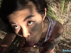 Public Agent Hot Asian chick Akasha Coliun loves girthy cock fuck