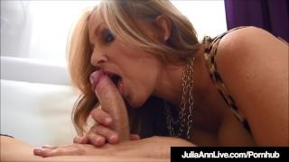 Stunning Milf Julia Ann Milks A Hard Cock Dry POV!