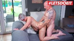 LETSDOEIT - GERMAN GRANNY Fucks Her HUSBAND During MATURE Amateur Tape