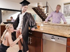 FamilyStrokes - Hot Stepmom Gives Reward Blowjob