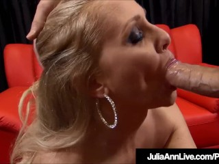 Blue Eyed Milf Julia Ann Jacks & Sucks Your Cock Off!