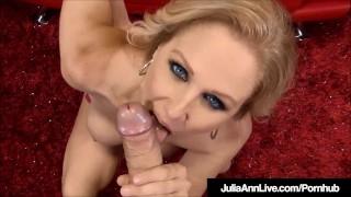 Blue Eyed Milf Julia Ann Jacks & Sucks Your Cock Off!