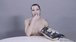 Porn Stars Eating: Cassandra Cain Crunches Popcorn Timer teamskeet