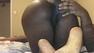 Big daddy stroking my pussy until I cream on his dick