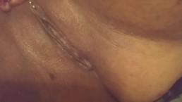 Pierced throbbing pussy